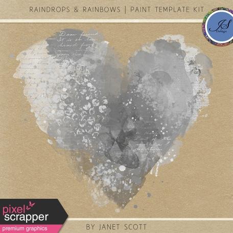 Raindrops & Rainbows - Paint Template Kit
