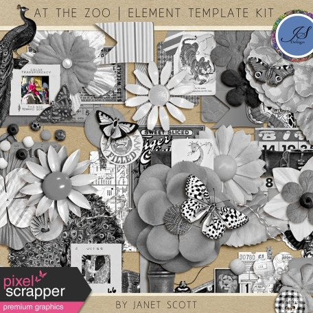 at the zoo element template kit by janet scott graphics kit