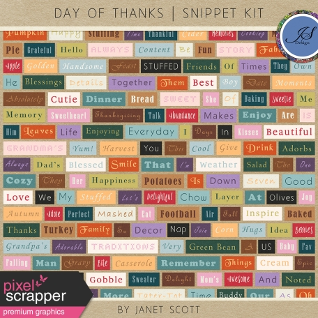 Day of Thanks - Snippet Kit