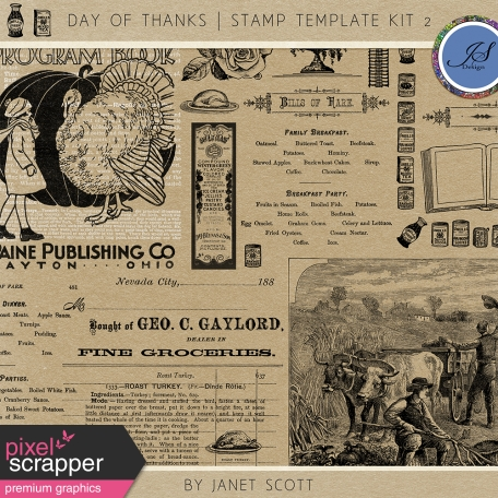 Day of Thanks - Stamp Template Kit 2