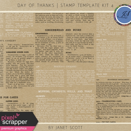 Day of Thanks - Stamp Template Kit 4