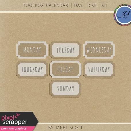 Toolbox Calendar - Day Ticket Kit