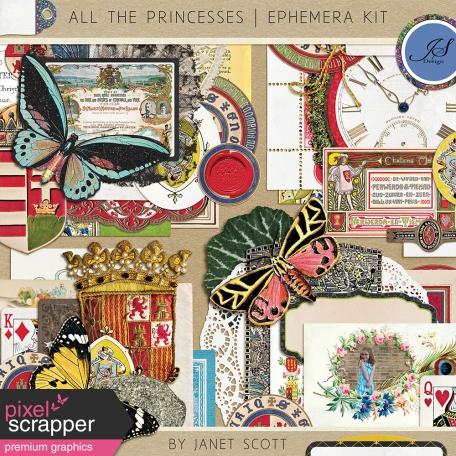All the Princesses - Ephemera Kit
