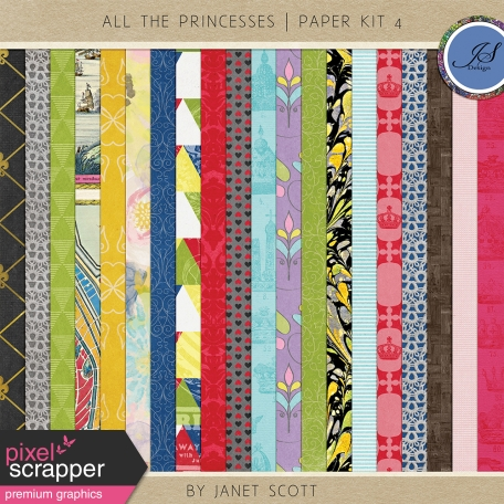 All the Princesses - Paper Kit 4
