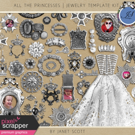 All the Princesses - Jewelry Template Kit