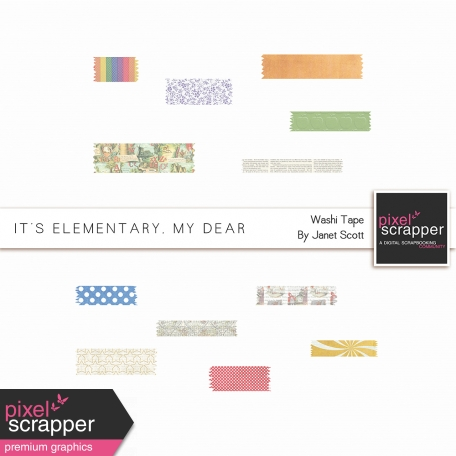 It's Elementary, My Dear - Washi Tape Kit