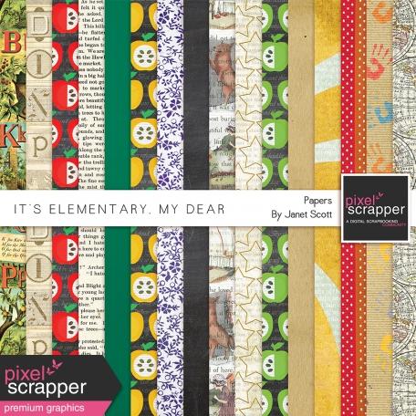 It's Elementary, My Dear - Papers Kit
