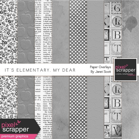 It's Elementary, My Dear - Paper Overlays