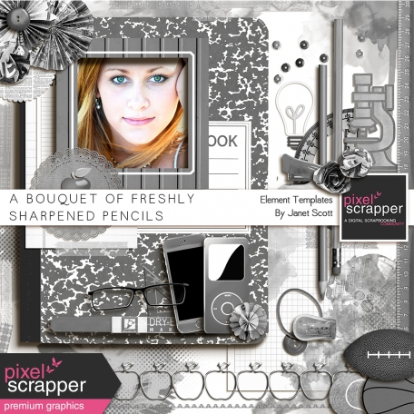 A Bouquet of Freshly Sharpened Pencils - Element Templates Kit