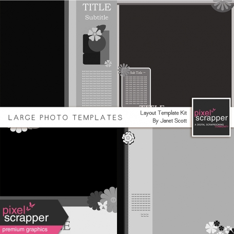 Large Photo Layout - Template Kit