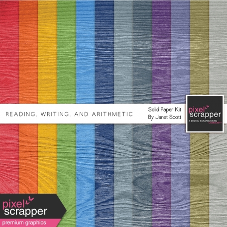 Reading, Writing, and Arithmetic - Solid Papers Kit