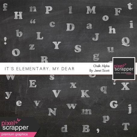 It's Elementary, My Dear - Chalk Alphabet Kit
