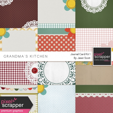 Grandma's Kitchen - Journal Card Kit 1