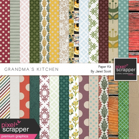 Grandma's Kitchen - Paper Kit