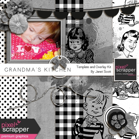Grandma's Kitchen - Templates, Overlays, and Textures