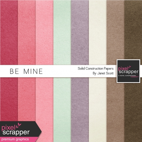 Be Mine - Solid Paper Kit