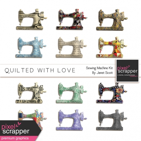 Quilted With Love - Quilted Sewing Machines Kit