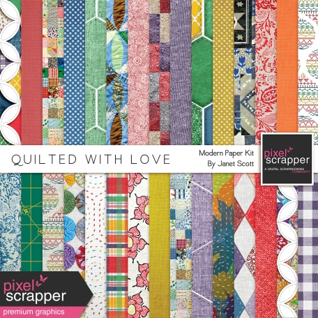 Quilted With Love - Modern Paper Kit
