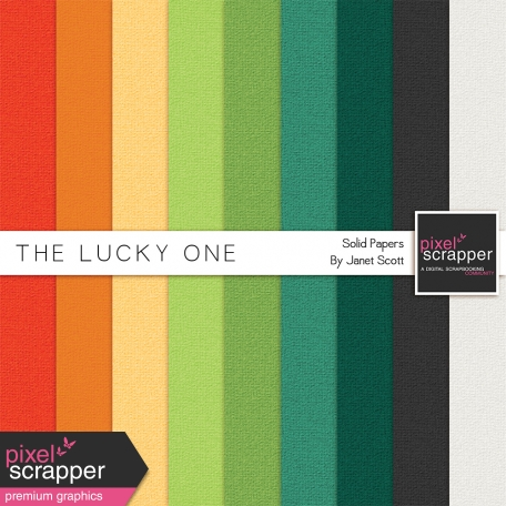 The Lucky One - Solid Papers Kit