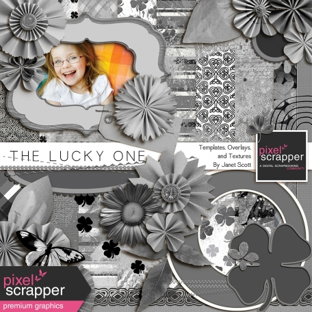 The Lucky One - Template, Texture and Overlay Kit