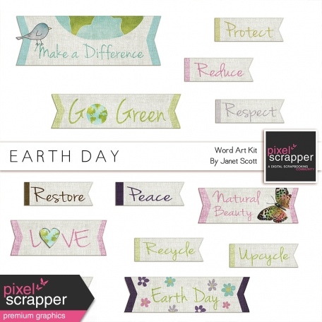 Earth Day - Word Art Kit