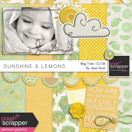 Sunshine and Lemons - Pixel Scrapper Designer Blog Hop