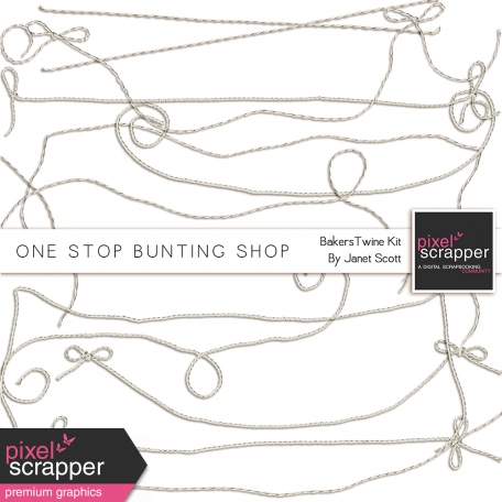One Stop Bunting Shop Bundle - Baker's Twine Bunting Strings Kit