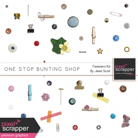 One Stop Bunting Shop - Bunting Fasteners Kit