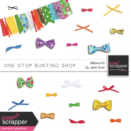 One Stop Bunting Shop - Ribbons and Bows Kit