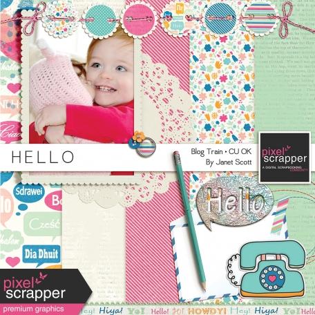 Hello - May 2014 Blog Train Mini Kit