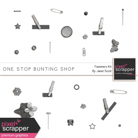 One Stop Bunting Shop - Bunting Fasteners Template Kit