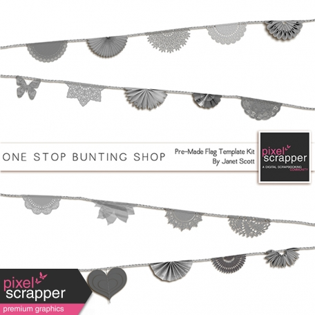 One Stop Bunting Shop - Pre-Made Flags Template Kit