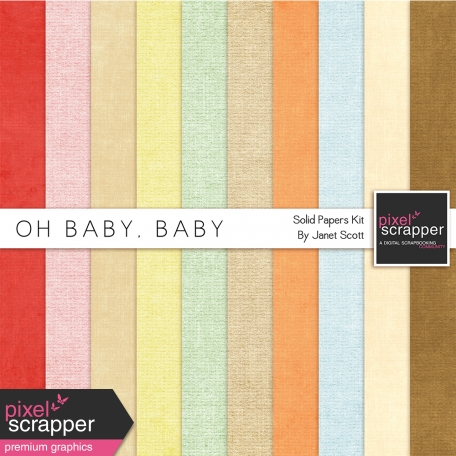Oh Baby, Baby - Solid Paper Kit
