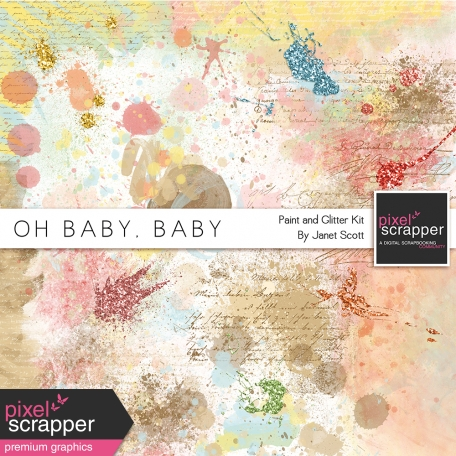 Oh Baby, Baby - Paint and Glitter Splat Kit