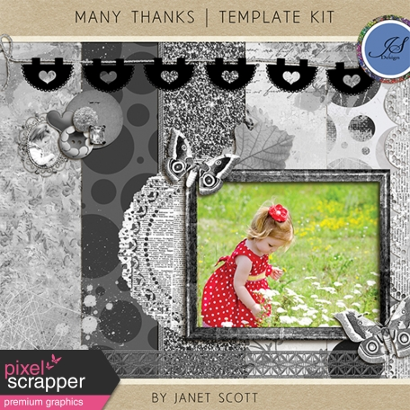 Many Thanks - Template Kit