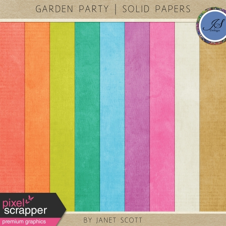Garden Party - Solid Paper Kit