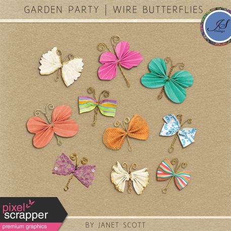 Garden Party - Wire Butterfly Kit