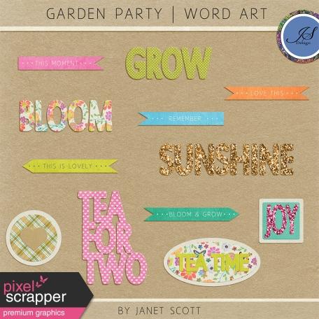 Garden Party - Word Art Kit