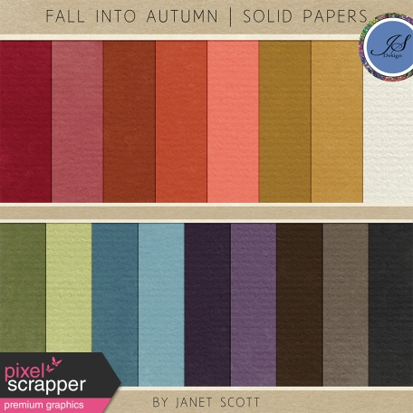 Fall Into Autumn - Solid Paper Kit
