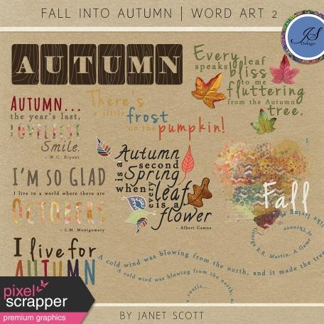 Fall Into Autumn - Word Art Kit
