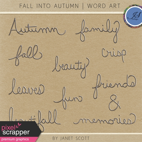 Fall Into Autumn - Wire Word Art Kit