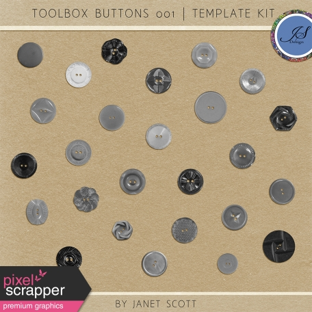 Toolbox Buttons 001 - Template Kit