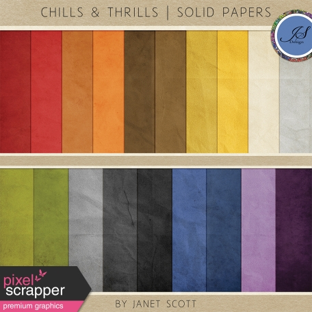 Chills & Thrills - Solid Paper Kit