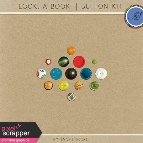 Look, a Book! - Button Kit