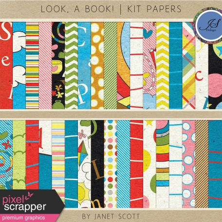 Look, a Book! - Paper Kit