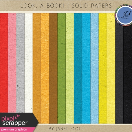 Look, a Book! - Solid Paper Kit
