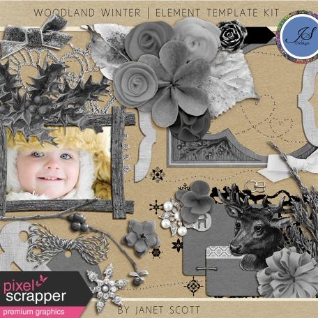 Woodland Winter - Element Template Kit