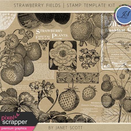 Strawberry Fields - Stamp Template Kit