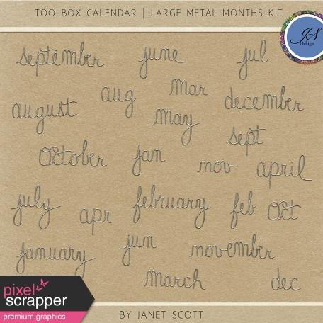 Toolbox Calendar - Large Metal Months Kit