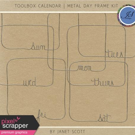 Toolbox Calendar - Metal Day Frame Kit